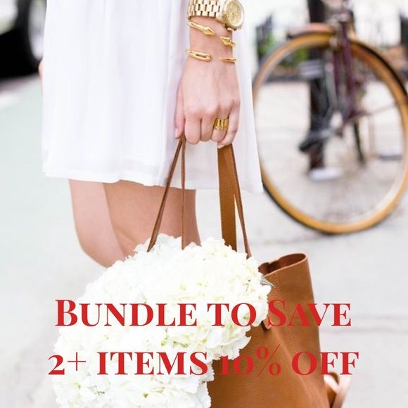 Bundle and save!!! Buy two or more items from my Poshmark closet and receive 10% off your total! #Style #deals #poshmark