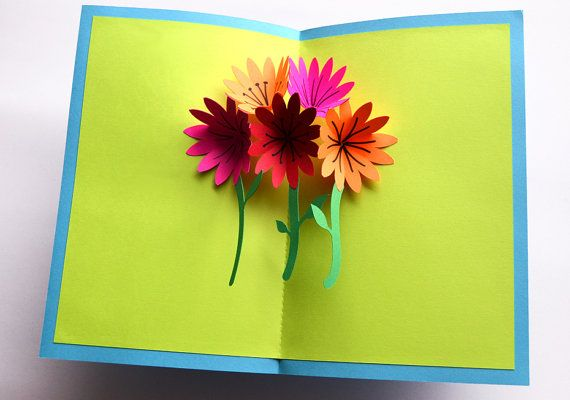 Popup Mothers Day Card Flower Bouquet By Popuppros On Etsy 9 49 Handmade Card Making Pop Up Cards Mothers Day Crafts For Kids