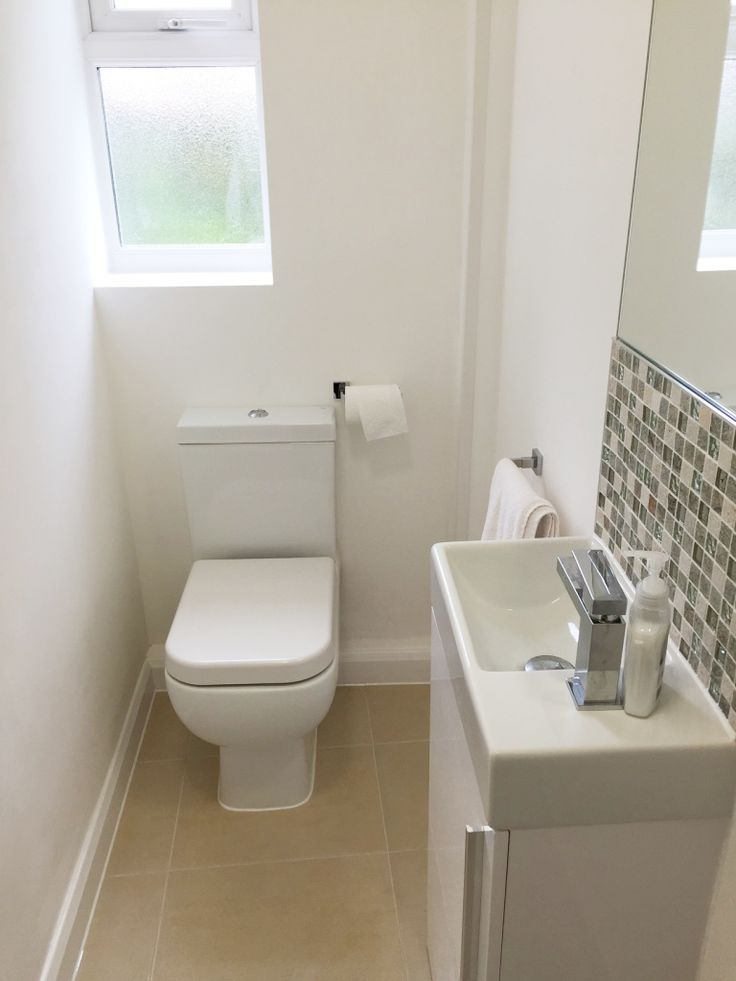 Quick And Easy Small Bathroom Decorating Tips Small Downstairs Toilet Small Toilet Room Small Toilet