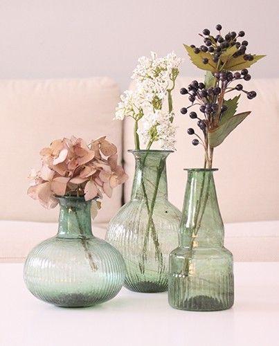 Jarrones verdes hechos a mano decoraci n pinterest for Decoracion hogar jarrones