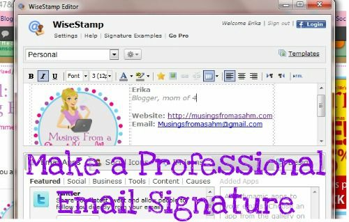 Tutorial How to Make a Professional-Looking Email Signature - sample email signature