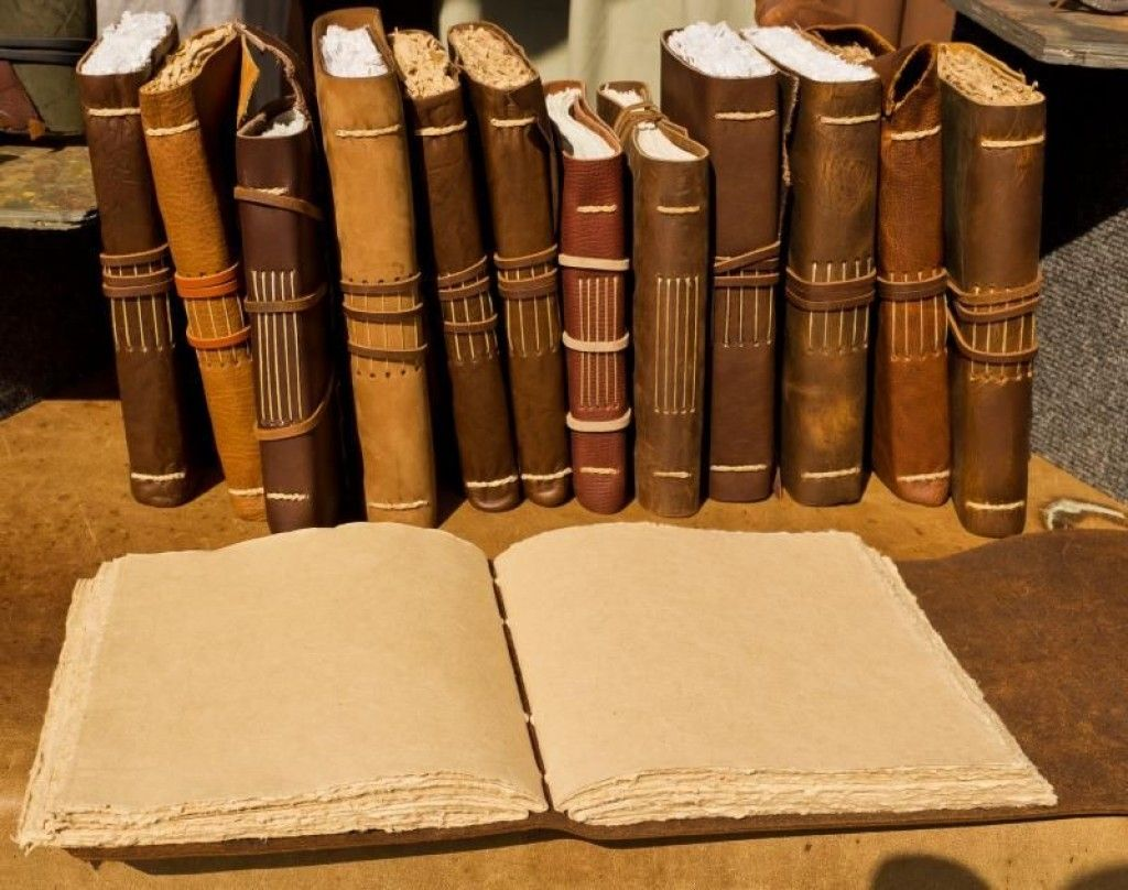 HOW TO make a Leather Journal BOOK BINDING tutorial
