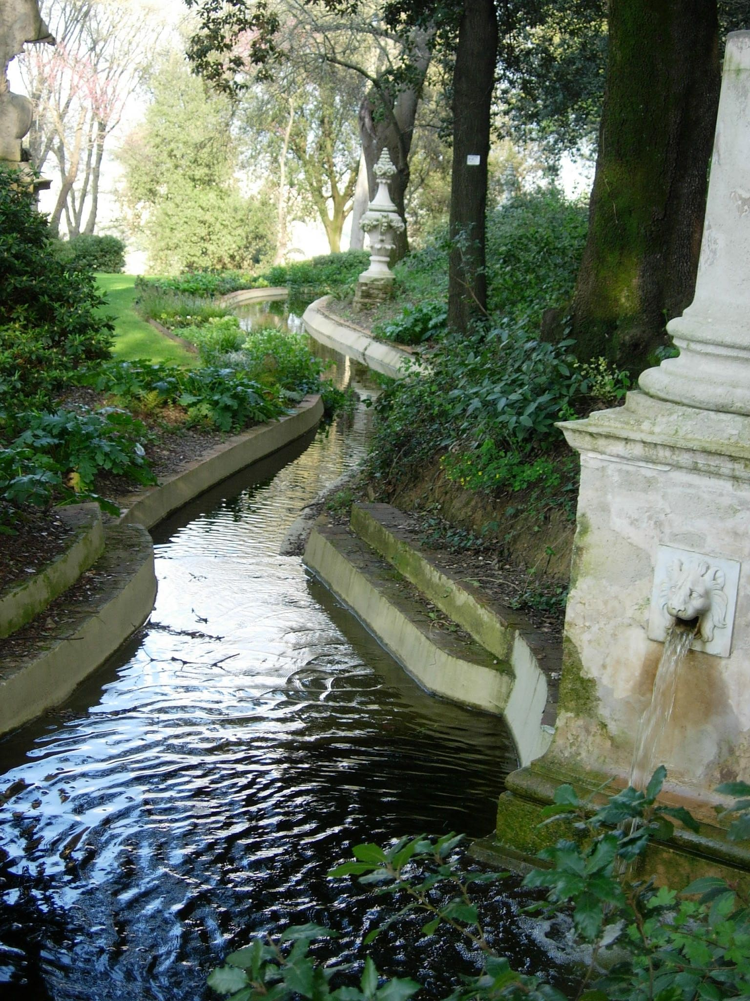 Giardino Italian Cool Water Feature The Giardino Bardini Is An Italian