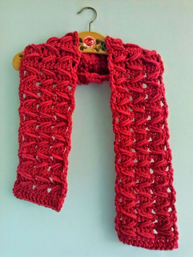 mrsdaftspaniel: Free Crochet Pattern - Zig Zag Scarf | Crochet ...