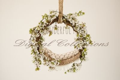 Wonderful Props - Natural Swing Hanging Nest  - Digital Backdrop - Photo Prop for Newborn Photography