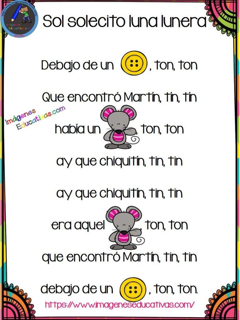Canciones Con Pictogramas Para Educacion Infantil Y Preescolar Canciones Infantiles Preescolar Letras De Canciones Infantiles Canciones Preescolar
