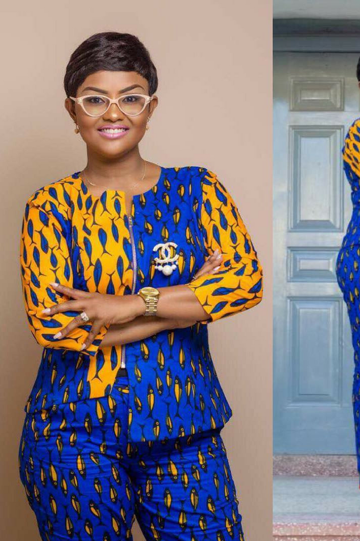 a001f4780c019 Nana Ama McBrown beautiful african print outfit, African fashion, Ankara,  kitenge, African women dresses, African prints, African men's fashion, ...