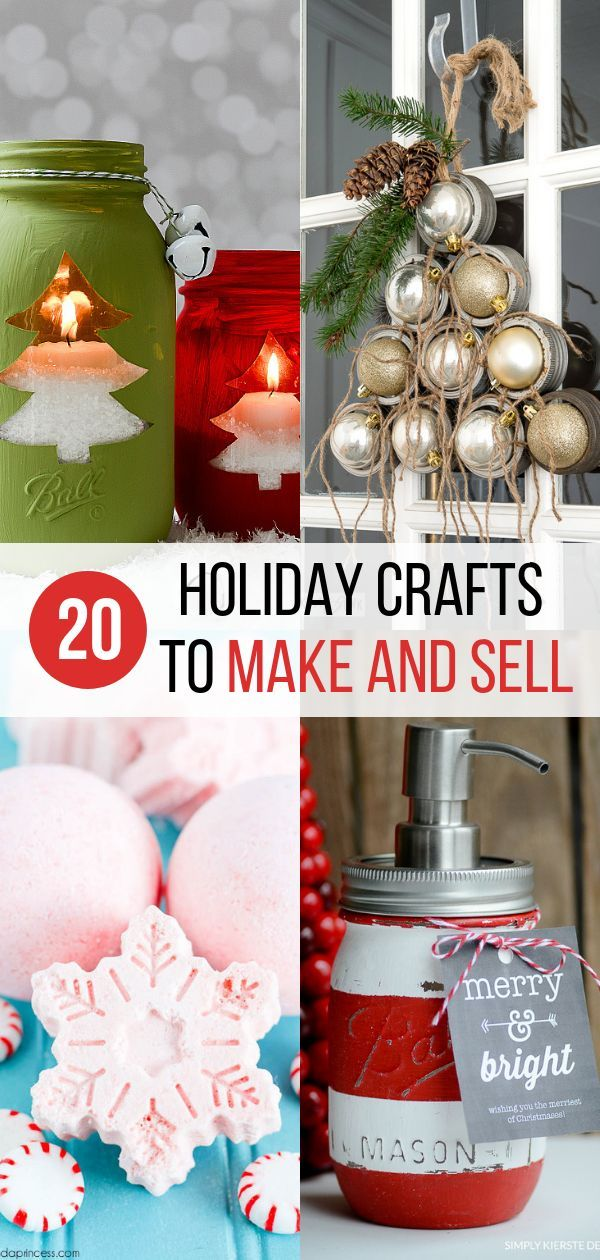 20 Easy DIY Holiday Crafts to Make and Sell #craftstomakeandsell