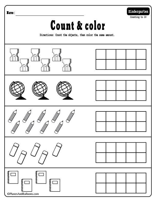 15+ Kindergarten math worksheets pdf files to download for