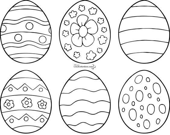 Coloriage Oeuf De Paques Simple.Coloriages De 6 Modele D Oeuf De Paques A Imprimer Paques