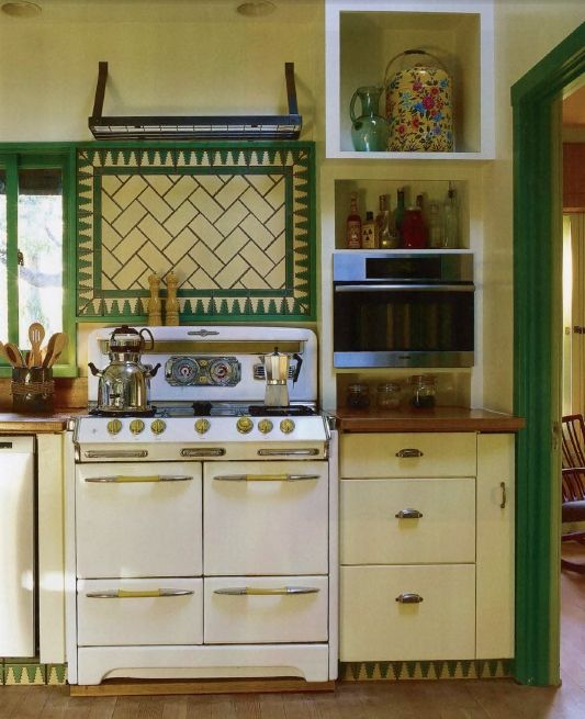 Green And Yellow Kitchen. Commune Desgin.
