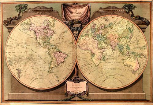 There Is NO New World NEITHER New Order There Is ONLY ONE World - Old world map rug