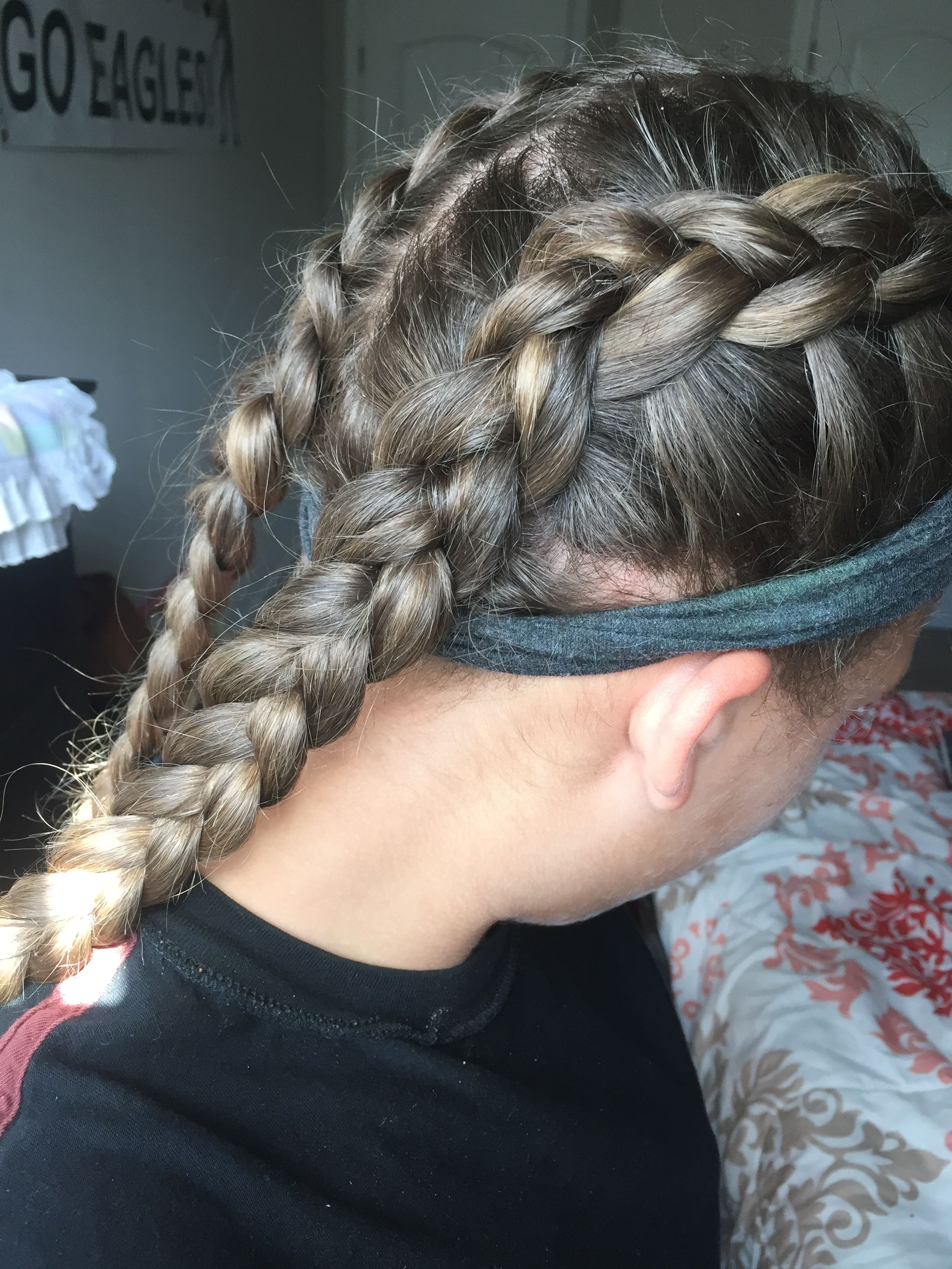 cute volleyball hairstyles | ribbon braids in 2019