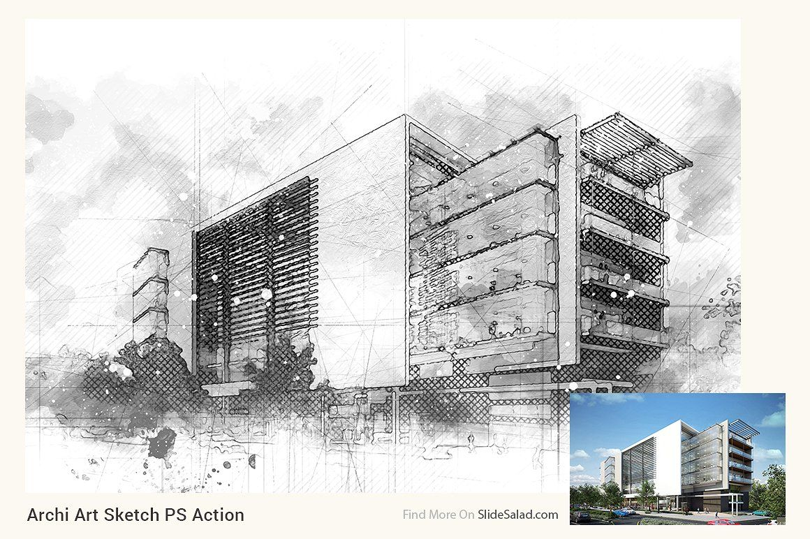 Archi Art Sketch Photoshop Action V2 Sketch Photoshop Photoshop