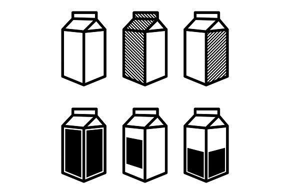 Milk And Juice Box Icons Set Box Icon Icon Set Juice Boxes