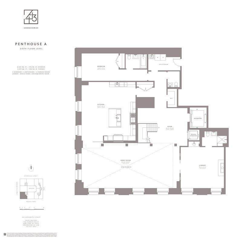 443 Greenwich St Pha Condo Apartment Sale In Tribeca Manhattan Streeteasy House Floor Plans Nyc Penthouse Pent House