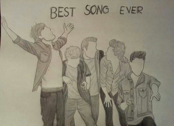Drawing Best Song Ever One Direction Drawings One Direction Fan Art Best Song Ever