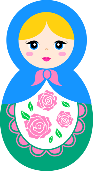 Cute Matryoshka Doll Clip Art http://sweetclipart.com/tags/christmas?page=3