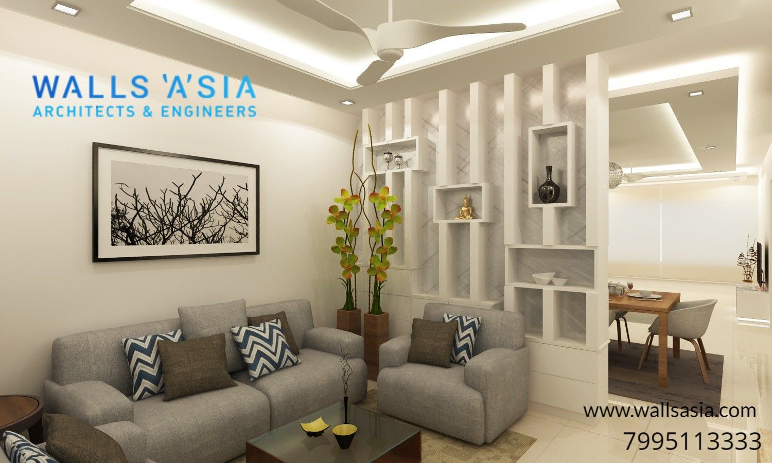Recently Completed Interiors Project In Hyderabad By Walls Asia