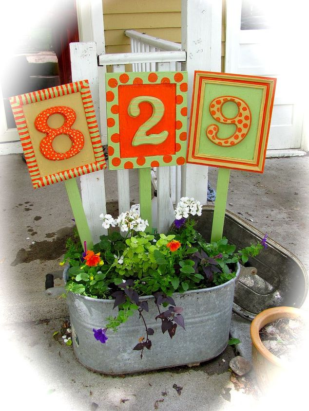 House Numbers House Numbers Yard Art Crafts Diy Home Crafts