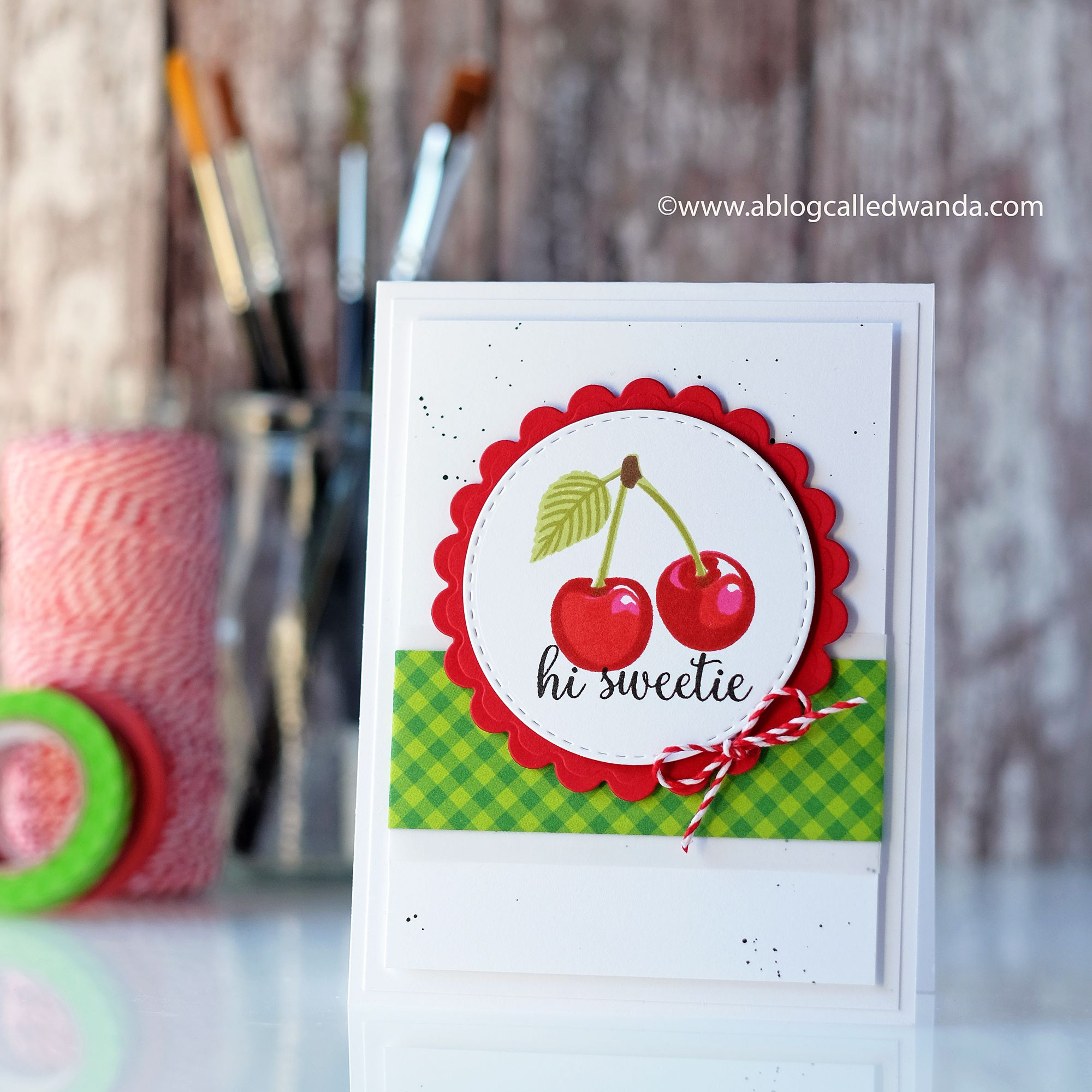 Hi Sweetie Cheery Cherry Card  Scrapbookcom