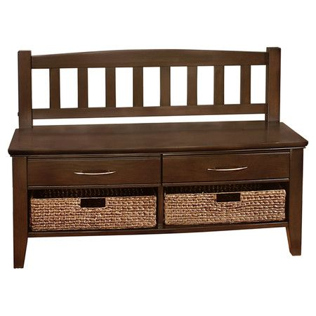 I want one of these when we get our house. Found it at Wayfair - Entryway Bench in Walnut