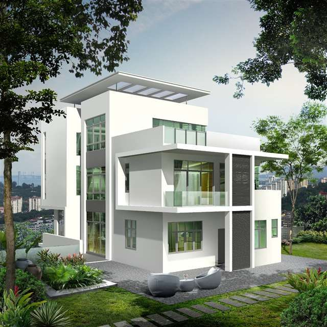 Top Modern Bungalow Design: Bungalow For Sale At Beverly Heights, Penang