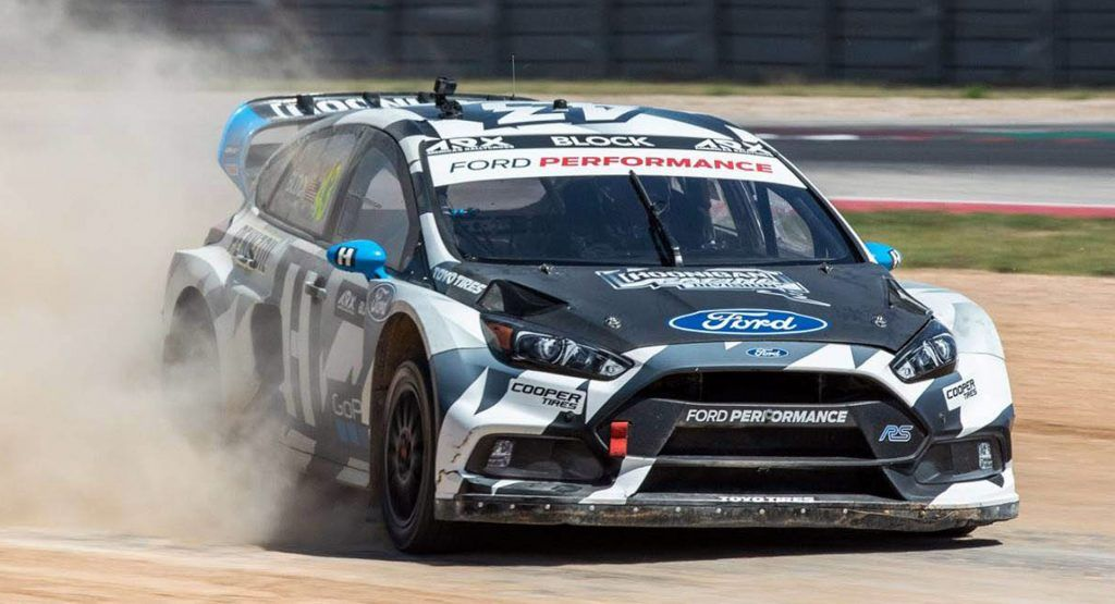 This Ford Focus Rs Rx Is Ken Blocks Newest Rallycross Steed Ford Focus Ford Focus Rs Focus Rs