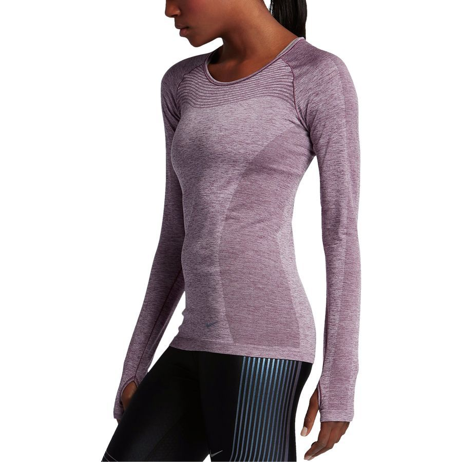 51f32e8d Nike - Dri-Fit Knit Shirt - Long-Sleeve - Women's - Purple Shade/Plum  Fog/Reflective Silver