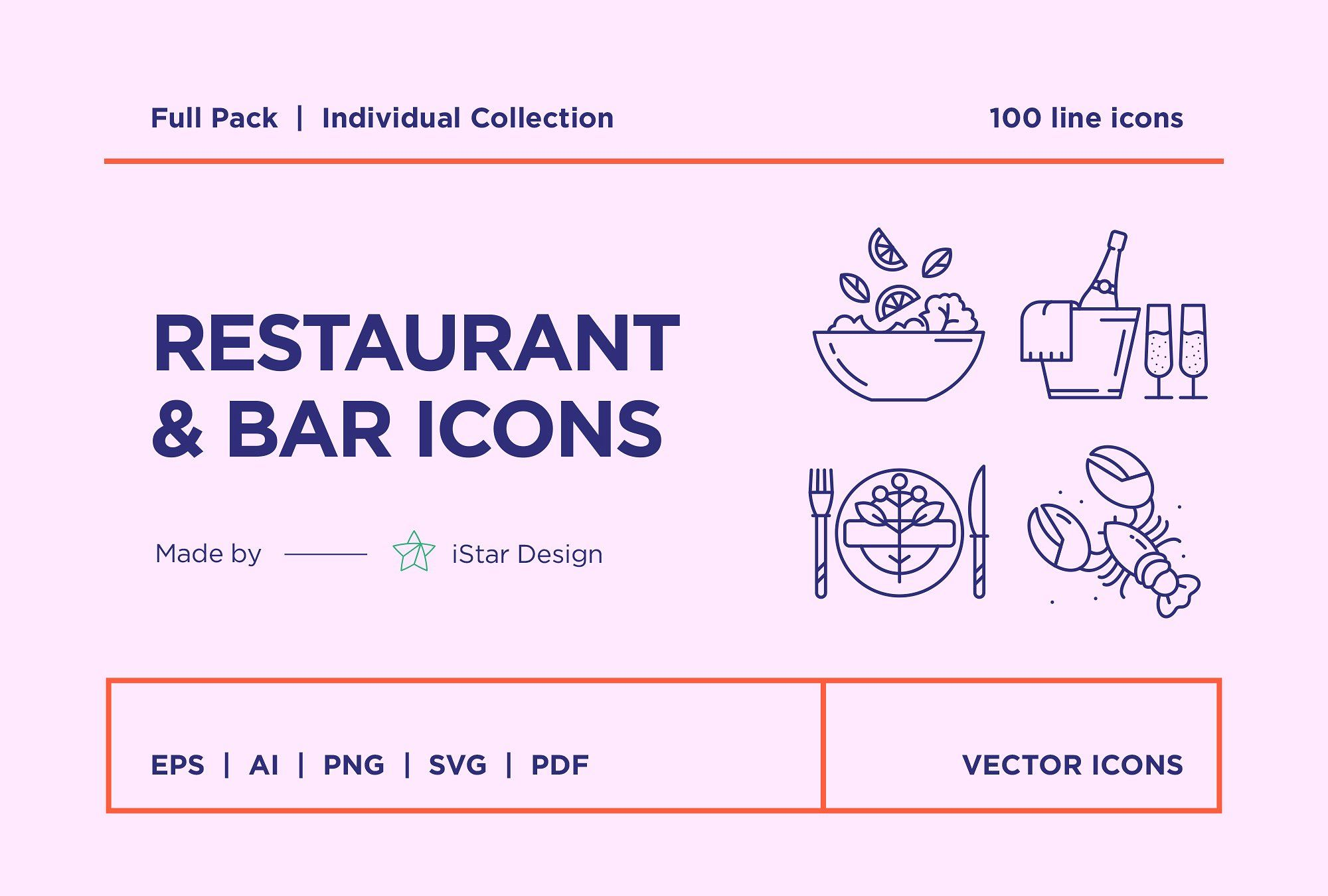Food & Drinks Icons Set icon, flaticon, icons, icon pack
