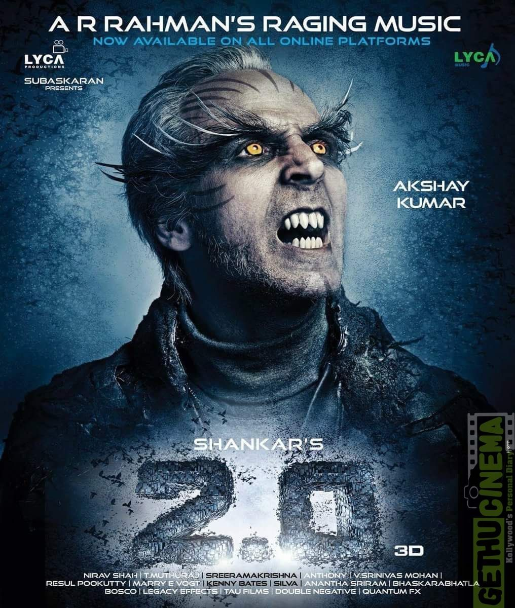 2.0 Tamil Movie New HD Posters Tamil movies, Full movies