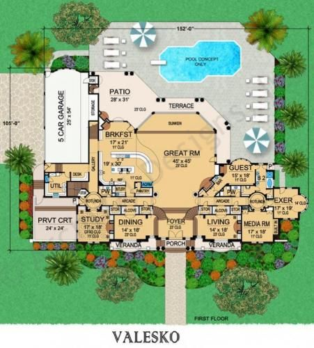 Valesko mansion floor plan house plan designer grand for Grand staircase floor plans
