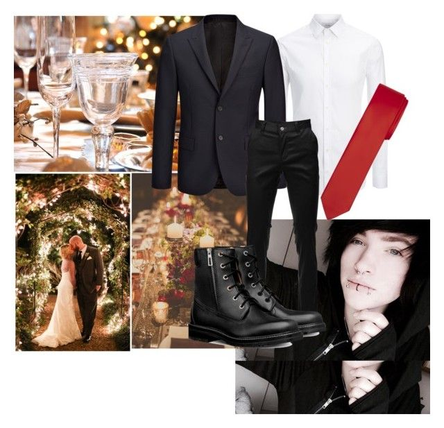 """Wedding day ~Seth"" by dark-moon15 ❤ liked on Polyvore featuring ADAM, Joseph, men's fashion and menswear"