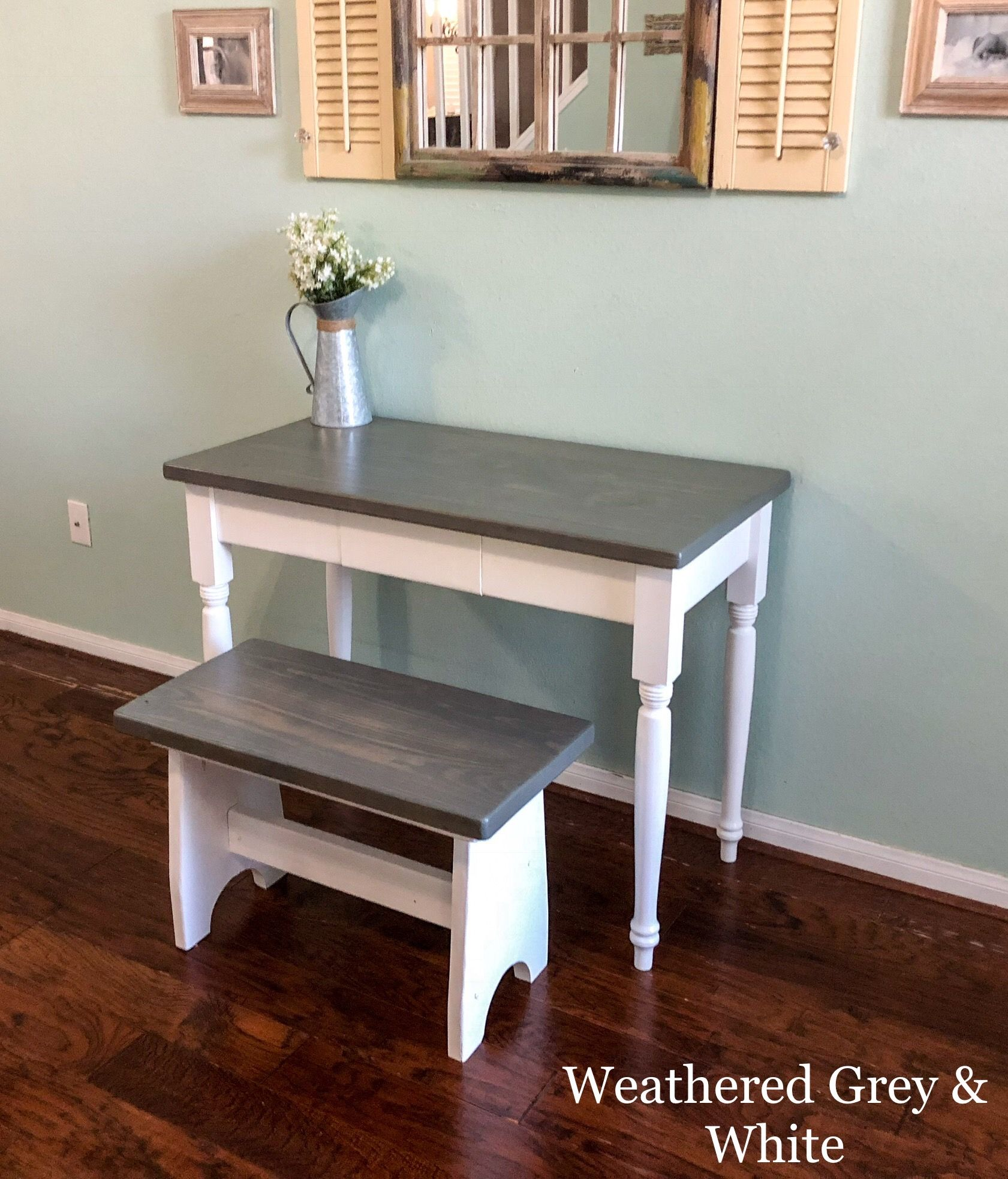 Farmhouse Desk and Bench by Southern Wisteria Design on