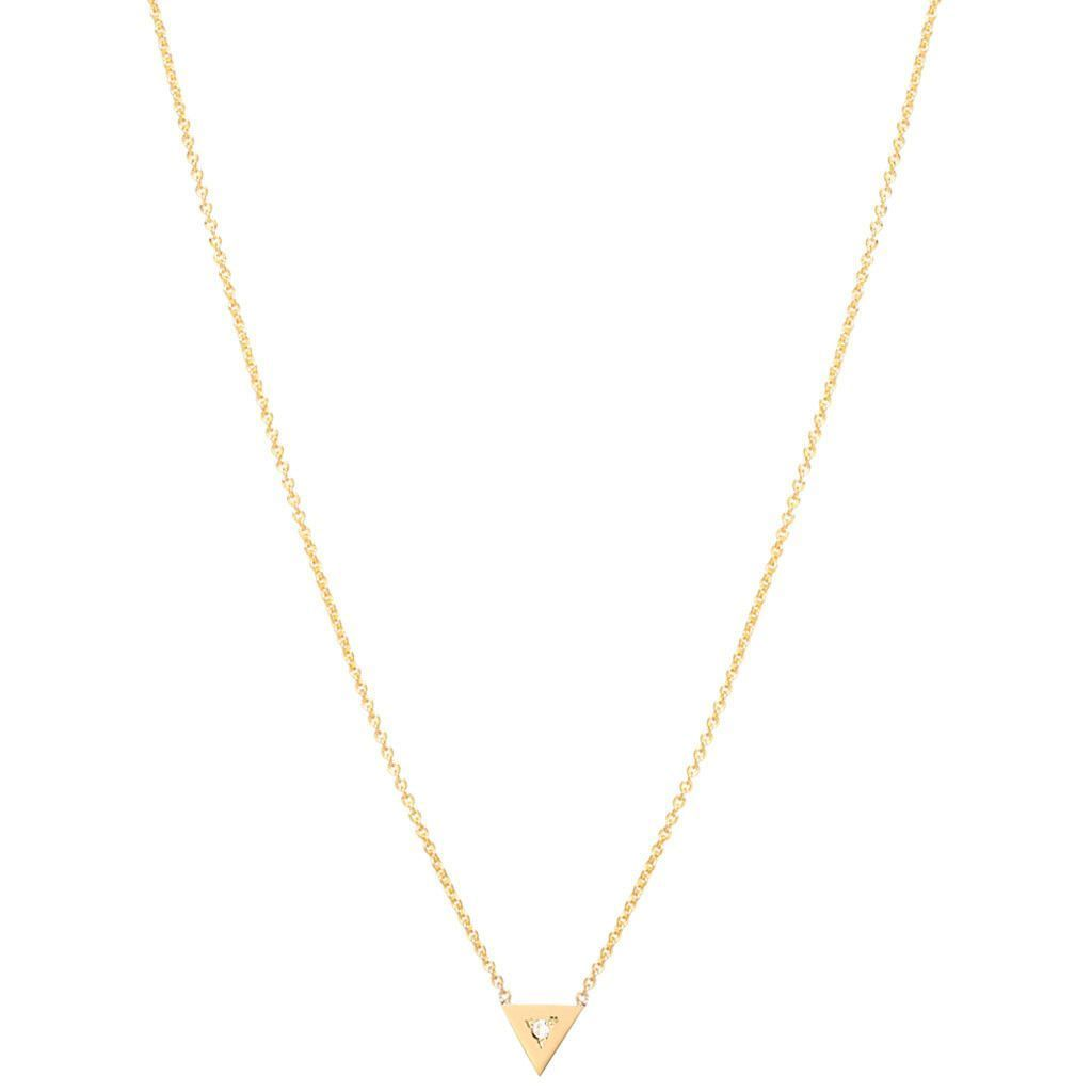 Zoe chicco k single diamond triangle necklace simple but pretty