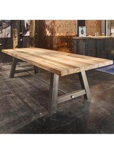 Nuovo tavolo vintage industrial design modello Leonardo, un tavolo ...