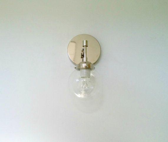 Glass Wall Lights   Sconces, Modern sconces, Candle holder ... on Decorative Wall Sconces Candle Holders Chrome Nickel id=18840