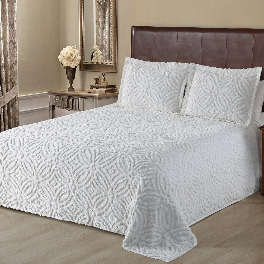 Alicia Chenille Bedspread Or Sham Bed Spreads Chenille