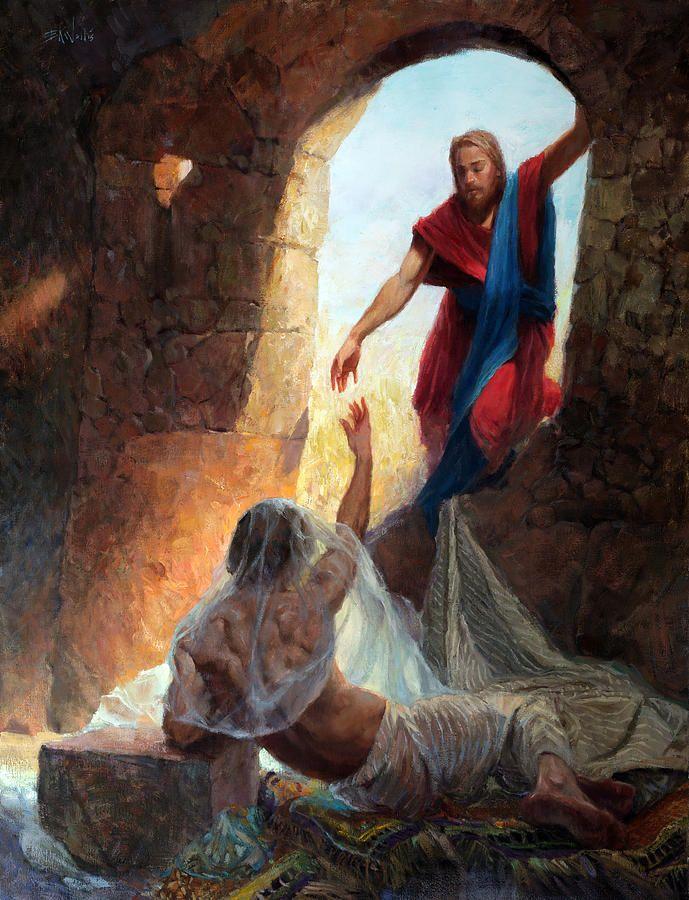 Raising Lazarus By Eric Wallis Pictures Of Jesus Christ Jesus Pictures Biblical Art