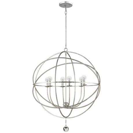 lighting | solaris collection 6-light modern pendant light | lamps plus $450