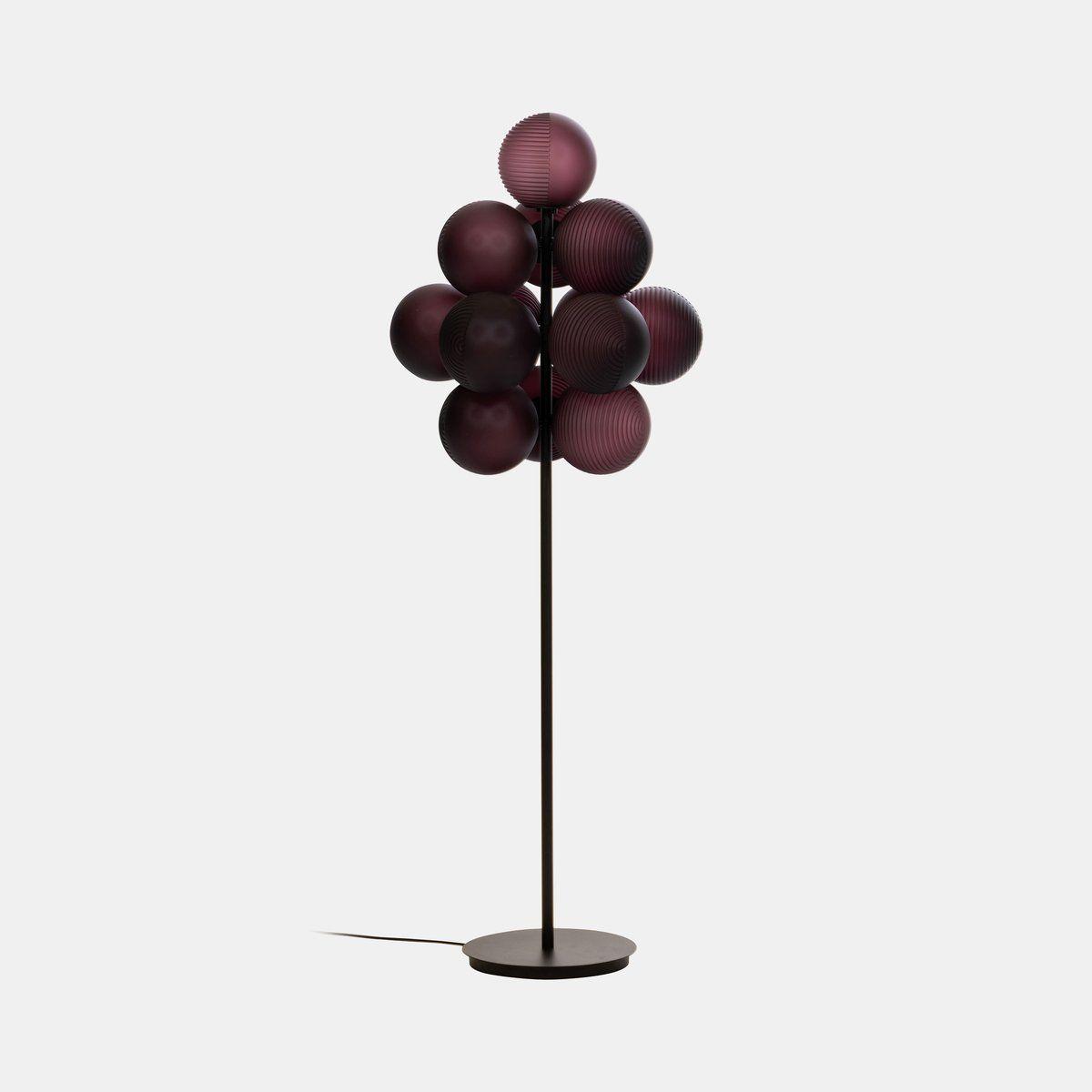 Stellar Grape Floor Lamp Aubergine   Hand blown glass