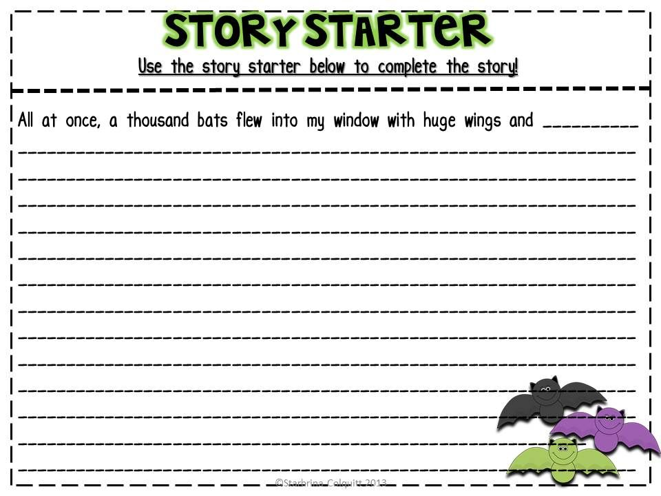 halloween story starter education school  halloween story starter