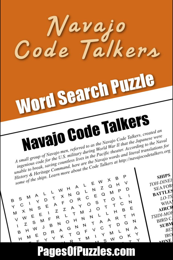 Navajo Code Talkers Word Search