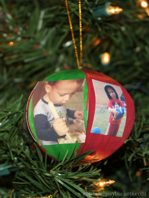 easy picture ornament craft for kids a fun idea for christmas ad memoriesinthebaking