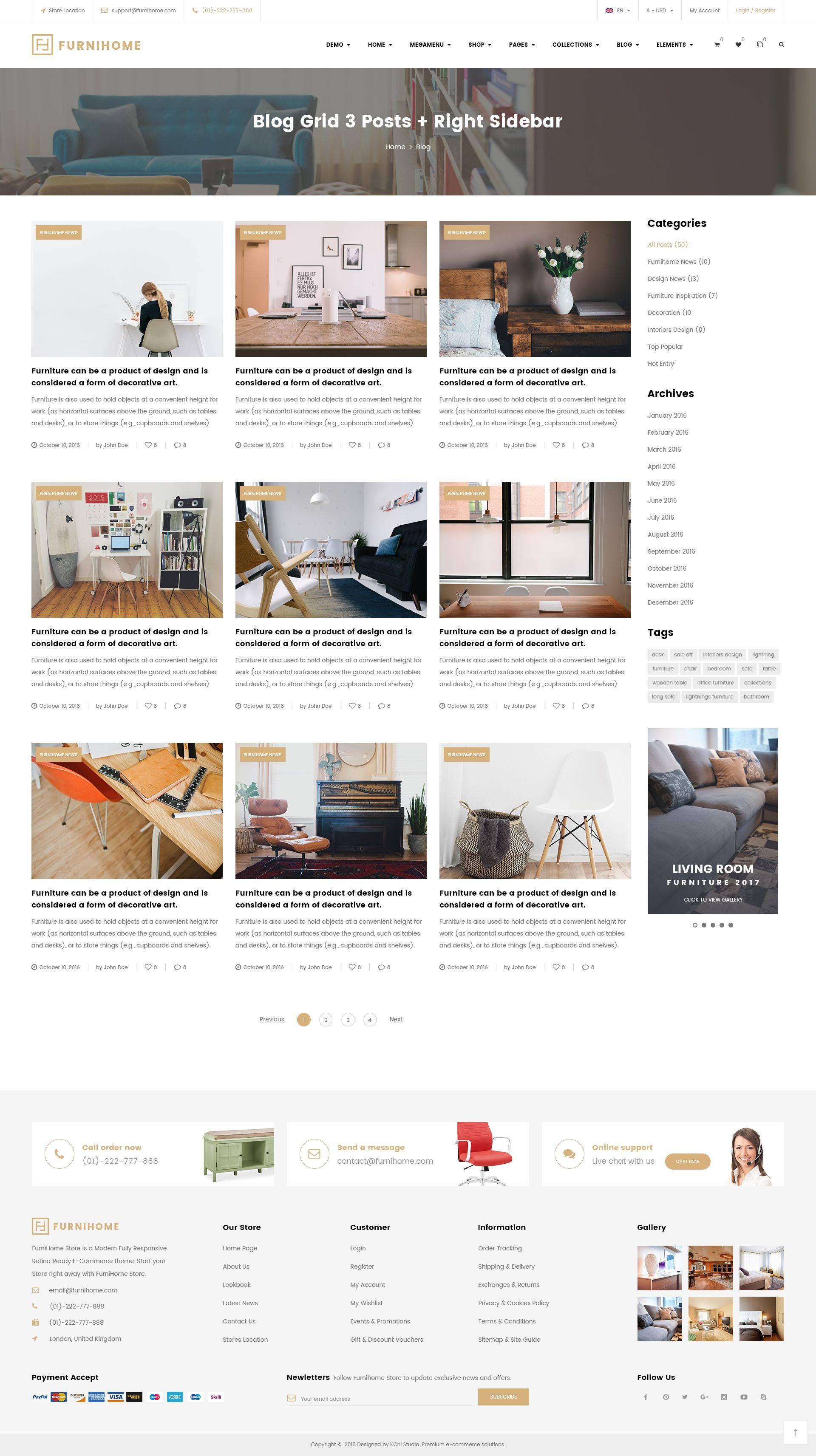 Furnihome E merce PSD Template for Furniture Store PSD