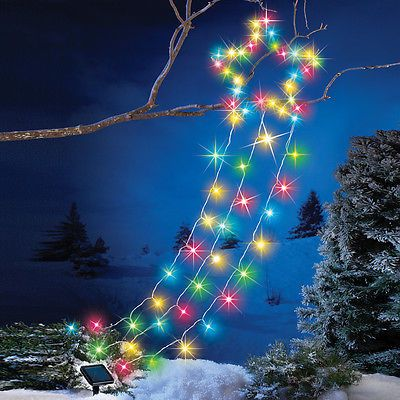 christmas lights solar color changing northern shooting star outdoor christmas yard decoration