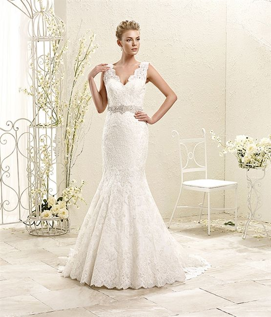 Pretty V Neck Lace Wedding Dress 2017 Romantic Corded Lace