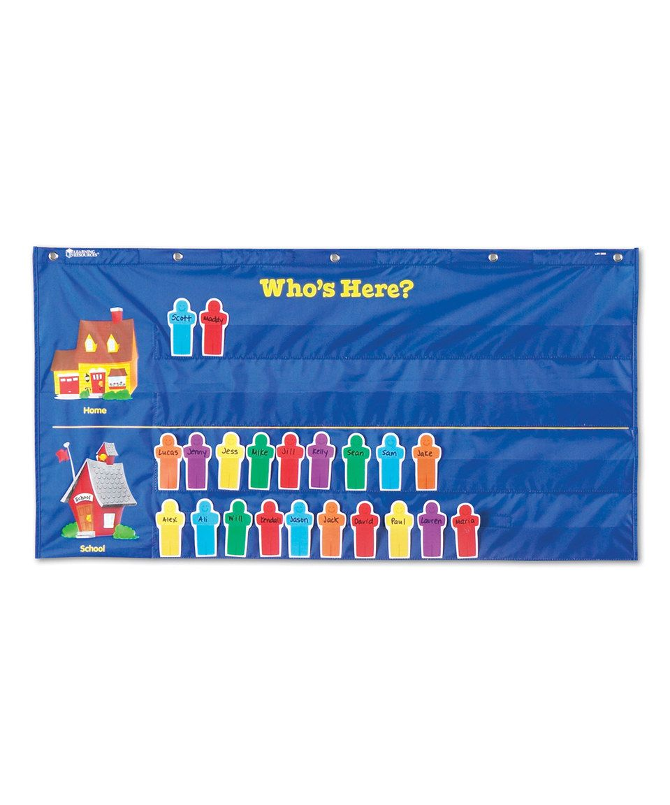 Another great find on #zulily! Attendance Pocket Chart Set ...