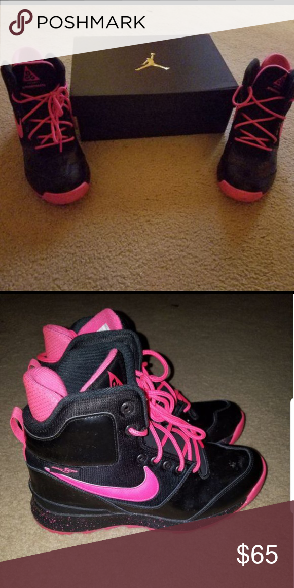 acg boots womens pink