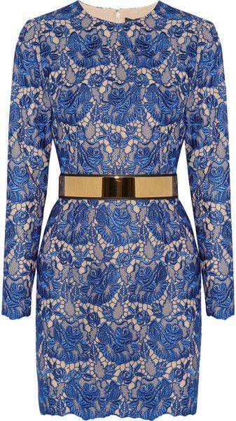 3cc252b9f0c7 STELLA MCCARTNEY Celia Guipure Lace and Crepe Mini Dress - Lyst